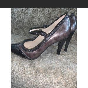 Dana Buchman tuxedo style Mary Jane heels